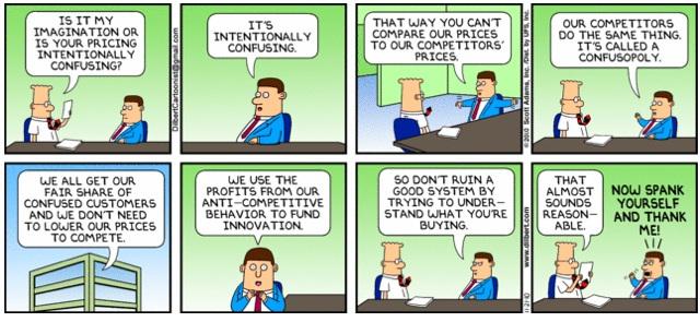 Le confusopole selon Dilbert