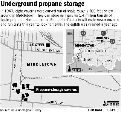 Des fuites de  gaz à 2 km des cavernes de stockage