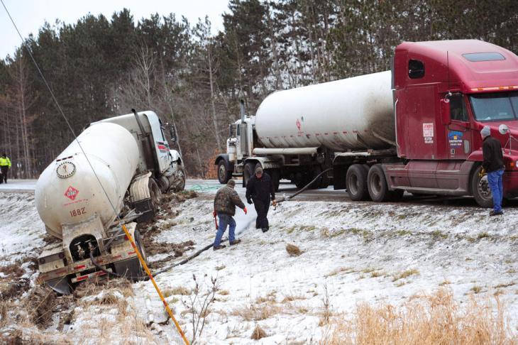 LPG truck crash