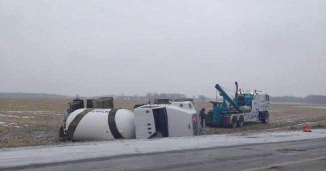 propane tanker overturned