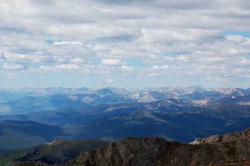La vue du sommet du Mont Evans