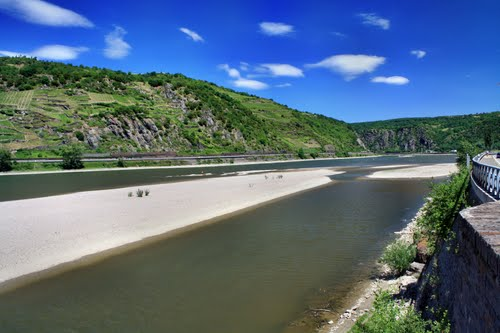 Le Rhin à Kaub