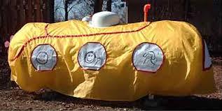 Yellow propane tank